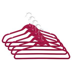 Waitrose pink velvet hangers, pack of 5