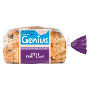 Genius Gluten Free Spicy Sliced Fruit Loaf