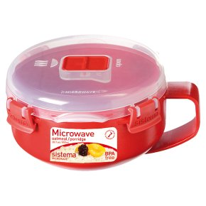 Sistema 850ml red breakfast bowl