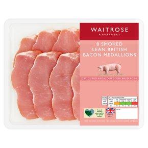 Waitrose 8Medallions Smoked Extra lean Bacon