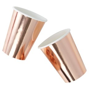 Ginger Ray Paper Cups Rose Gold