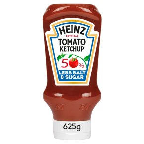 Heinz Tomato Ketchup 50% Less Sugar/Salt