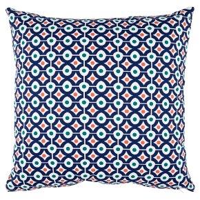 Waitrose Home Blue Geo Cushion