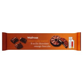 Waitrose 8 Milk Chocolate Orange Biscuits