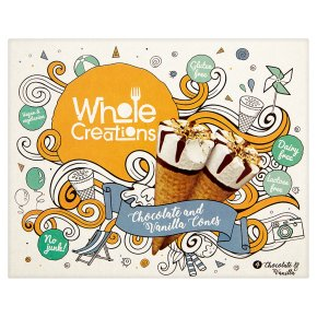 Whole Creations Chocolate and Vanilla Cones