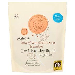 Waitrose Laundry Capsules Non-Bio Woodland Rose