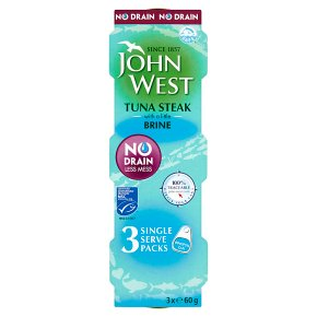 John West MSC No Drain Tuna Steak in Brine