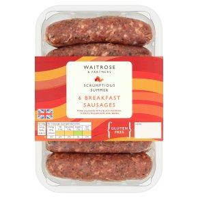 Waitrose 6 Breakfast Sausages