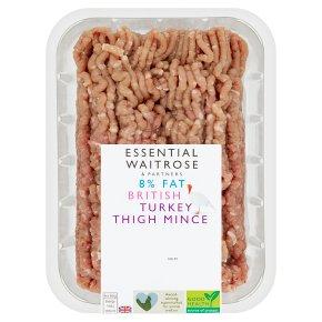 Essential British Turkey Thigh Mince   Waitrose & Partners