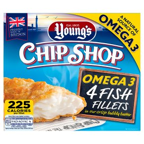 Young's Chip Shop 4 Large Omega 3 Fish Fillets