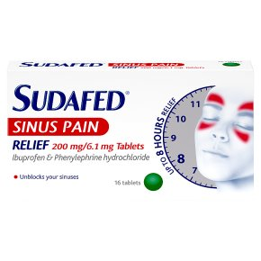 Sudafed Sinus Pain Relief