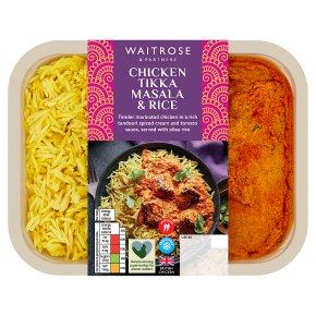 Waitrose chicken tikka masala with pilau rice