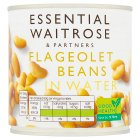 essential Waitrose canned flageolet beans in water - drained 265g