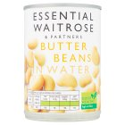 essential Waitrose canned butter beans in water - drained 235g
