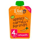 Ella's Kitchen Organic carrots, apples and parsnips  - stage 1 baby food - 120g