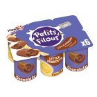 Petits Filous Chocolate and Vanilla Dairy Desserts - 6x55g
