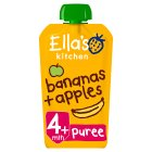 Ella's Kitchen Organic apples and bananas - stage 1 baby food - 120g