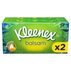 Kleenex Balsam Tissues, twin pack - 2x64 sheets