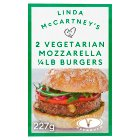 Linda McCartney 2 mozzarella 1/4lb burgers - 227g