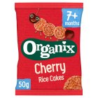 Organix cherry rice cakes - 50g