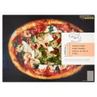 Waitrose 1 wood-fired king prawn, garlic & chilli pizza - 500g
