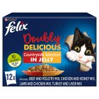 Felix As Good As It Looks Doubly Delicious Cat Food Meat - 12x100g