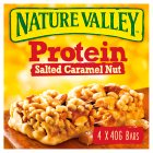 Nature Valley Protein Salted Caramel Nut Cereal Bars - 4x40g