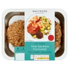 Waitrose Easy To Cook 2 Scottish salmon fishcakes with sweet chilli sauce - 270g
