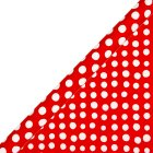 essential Waitrose 2m red spot giftwrap -