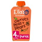Ella's Kitchen Organic carrot peas and pears - stage 1 baby food - 120g