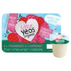 Little Yeos Organic Strawberry & Raspberry kids fromage frais yogurts - 6x45g