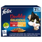 Felix As Good As It Looks Doubly Delicious Senior Cat Food Meat - 12x100g