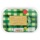 Waitrose 12 Flaky Mini Cheese & Onion Rolls - 264g